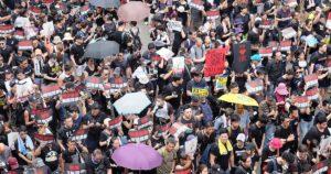 Manifestação Hong Kong. Democracia. Agosto 2019.