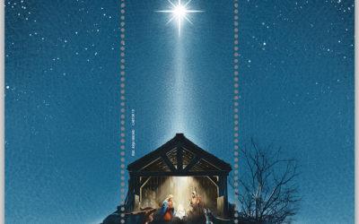 Como pode uma estrela iluminar-se num selo de Natal