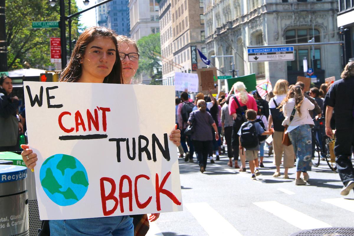 Clima. manifestação. Nova Iorque.