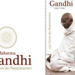 Um selo em tecido artesanal para homenagear Gandhi e a não-violência