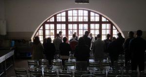 Eucaristia católica no Estabelecimento Prisional de Lisboa, dia 6 de Março de 2020.