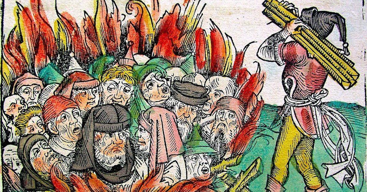Peste, Judeus queimados