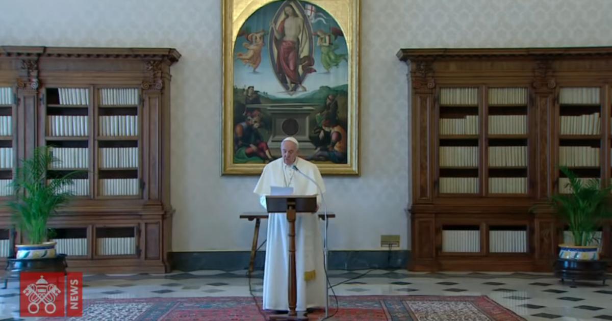 """O Papa Francisco na sua alocução do """"Angelus"""", de 29 de Março de 2020."""