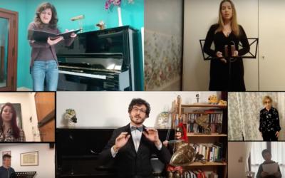 """Diários de quarentena (13): Um """"Va, pensiero"""" através da música, gravado em casa de cada um dos membros do coro"""
