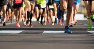 Maratona. Atletismo.