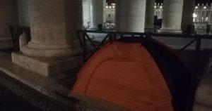 Sem-abrigo. Vaticano