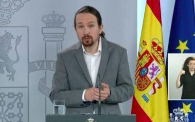 Pablo Iglesias ao lado do Papa contra porta-voz dos bispos espanhóis