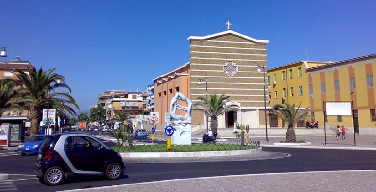 Blessed Virgin of the Immaculate church on Piazza Ungheria in Torvaianica, Italy. (Photo by Andy90 at Italian Wikipedia_Creative Commons)