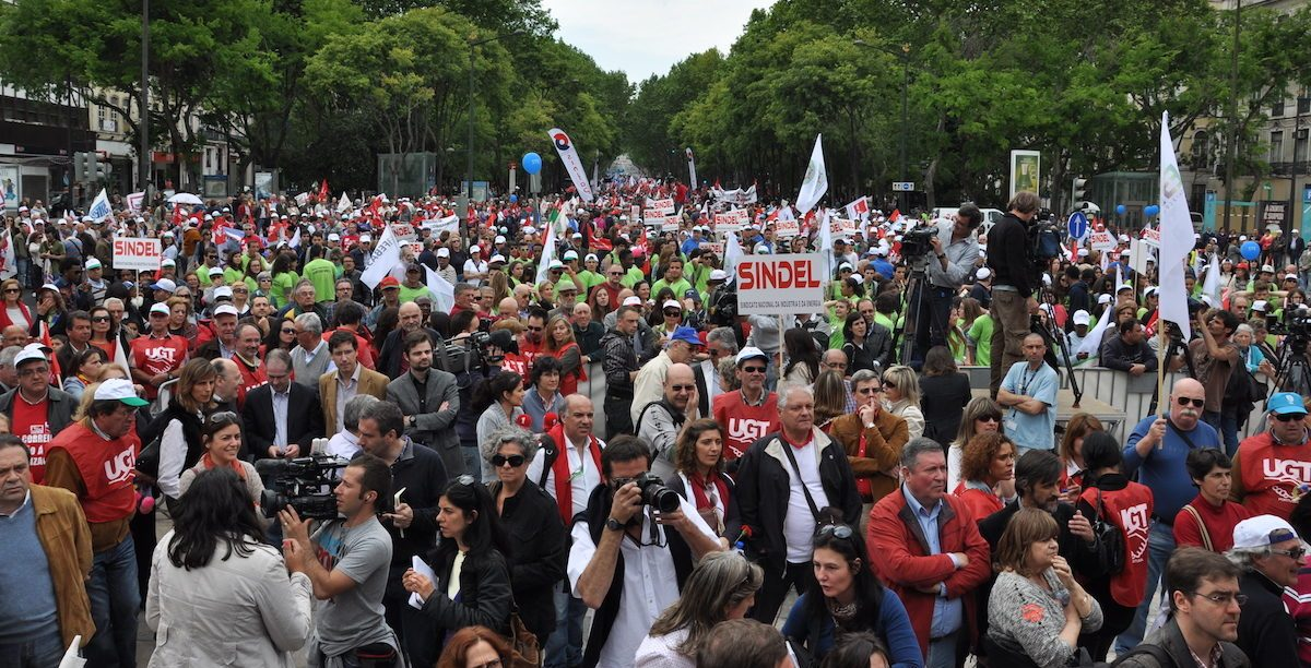 Manifestação sindical. UGT. 1º de Maio 2013