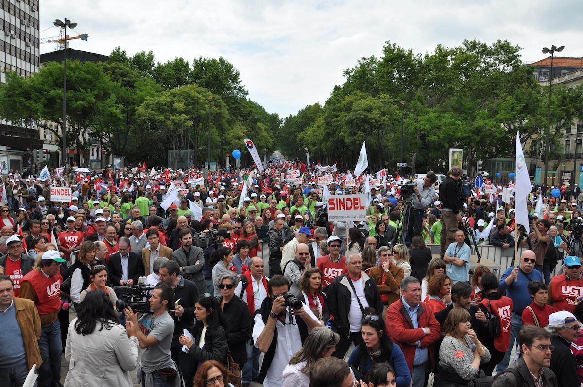 Manifestação sindical. UGT. 1º de Maio 2019