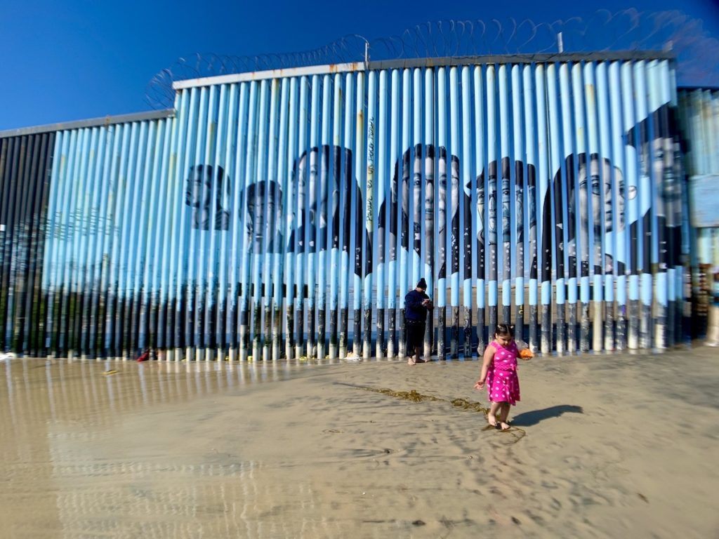 Fronteira EUA-México. Muro de Separação. Tijuana