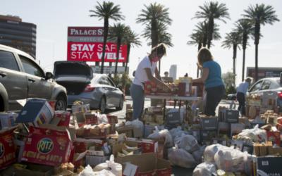 Casinos de Las Vegas transformados em bancos alimentares
