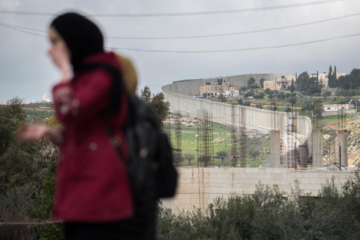 Abu Dis, Palestina. Muro. Israel