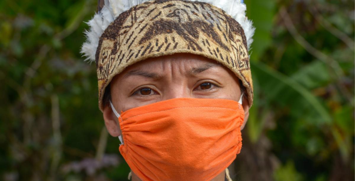 indigena a usar mascara covid-19, foto Prefeitura de Manaus