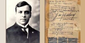 Aristides de Sousa Mendes e visto concedido em 1940, foto Vatican News sem creditos