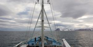 Navio de pesquisa Lance cruza o mar ártico da Noruega, em 2015. Foto: ONU/Rick Bajornas