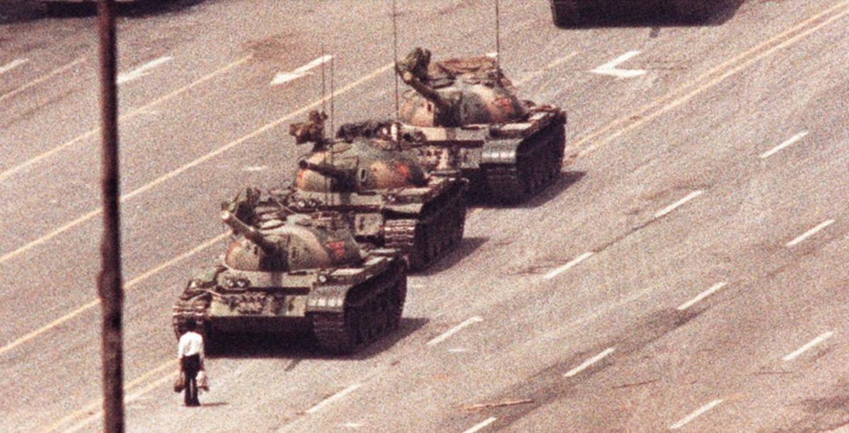 Massacre Tianamen. China