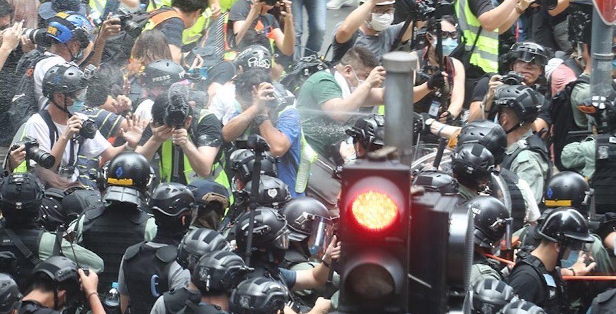 Hong Kong 1 Jul 2020. Jornalistas