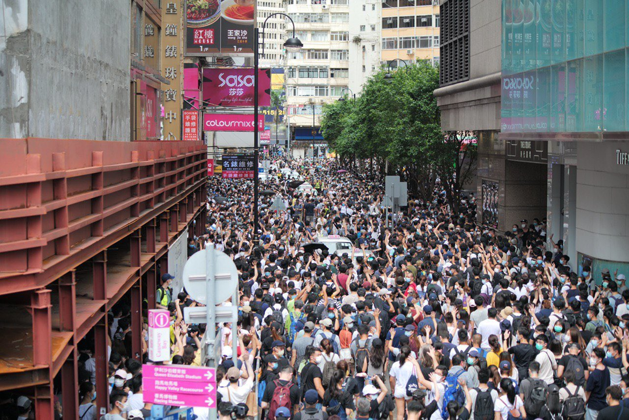 Hong Kong manifestação. Joshua Wong