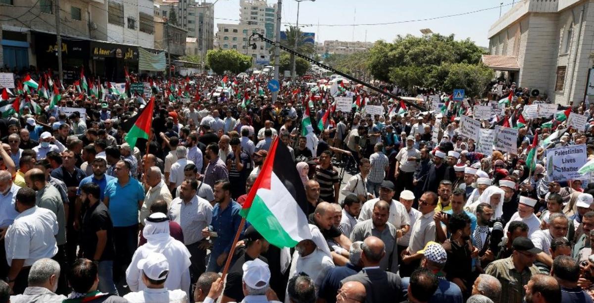 manifestacao palestinianos contra anexacao israel, Foto Vatican News sem creditos