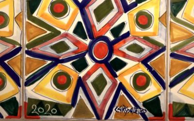 Manuel Cargaleiro oferece painel de azulejos a paróquia de Lisboa