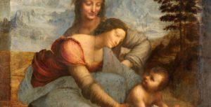 Leonardo da Vinci. A Virgem e o Menino com Sant'Ana. Museu do Louvre