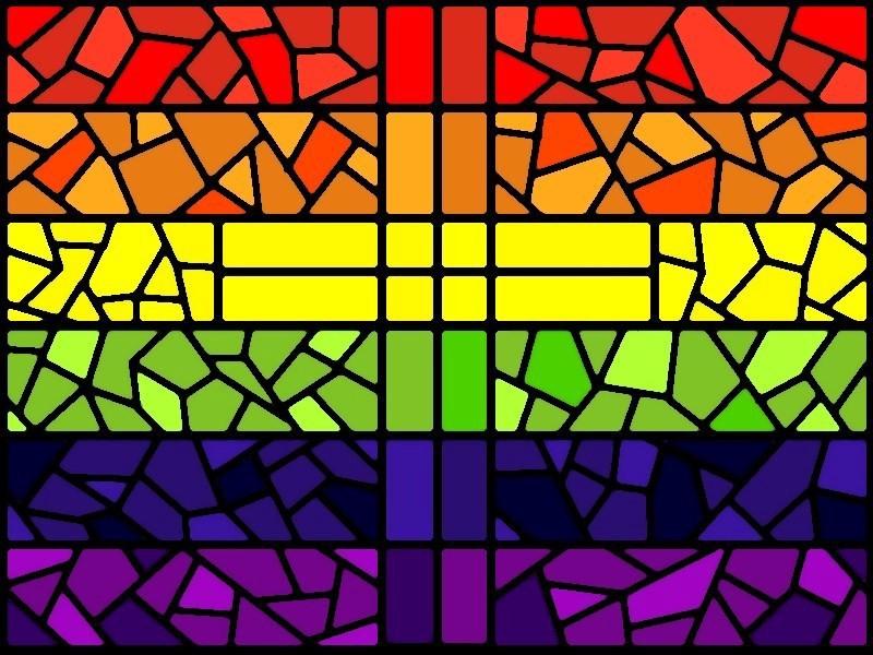 Cruz colorida. LGBTI