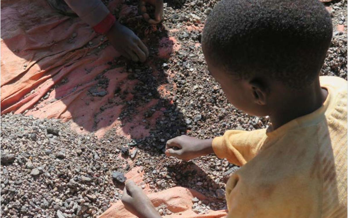 Minas. Crianças. Trabalho infantil. Congo