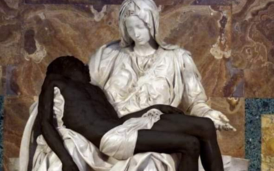 Pontifícia Academia para a Vida criticada por publicar fotomontagem da Pietá com Jesus negro