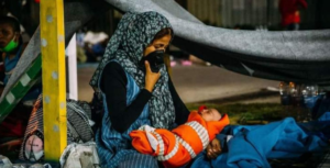 refugiados lesbos moria, Foto_ Comunidade de San'Egidio