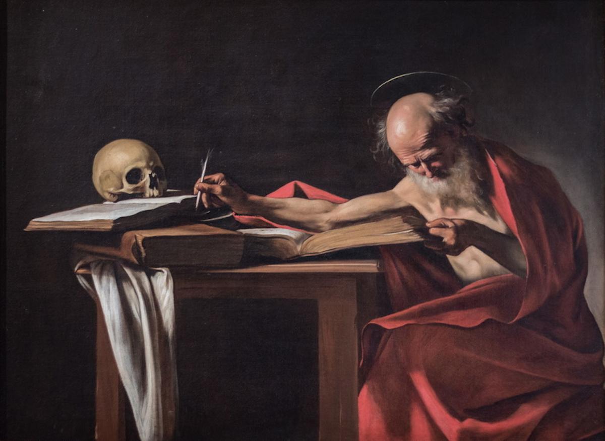são jerónimo. Caravaggio. Séc. XVII. Pintura