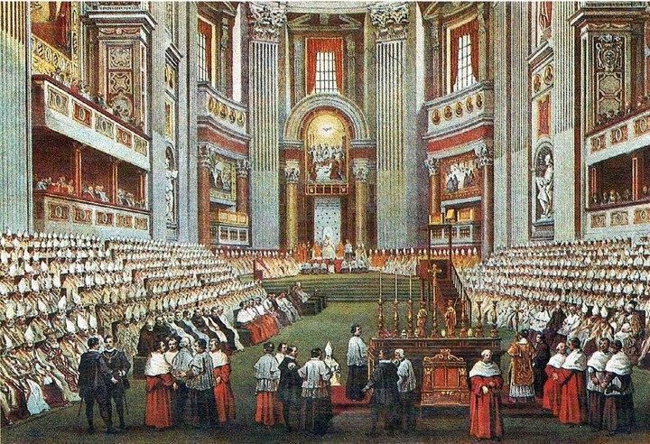 Concílio Vaticano I. Bispos. Igreja Católica