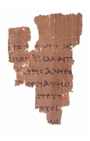 Manusscrito P52 do Novo Testamento. Bíblia