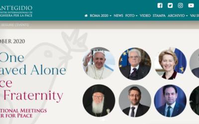 Papa em encontro inter-religioso pela Paz promovido por Sant'Egídio