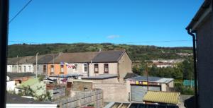 Colina de Rhydyfelin, vista de Pontypridd, País de Gales