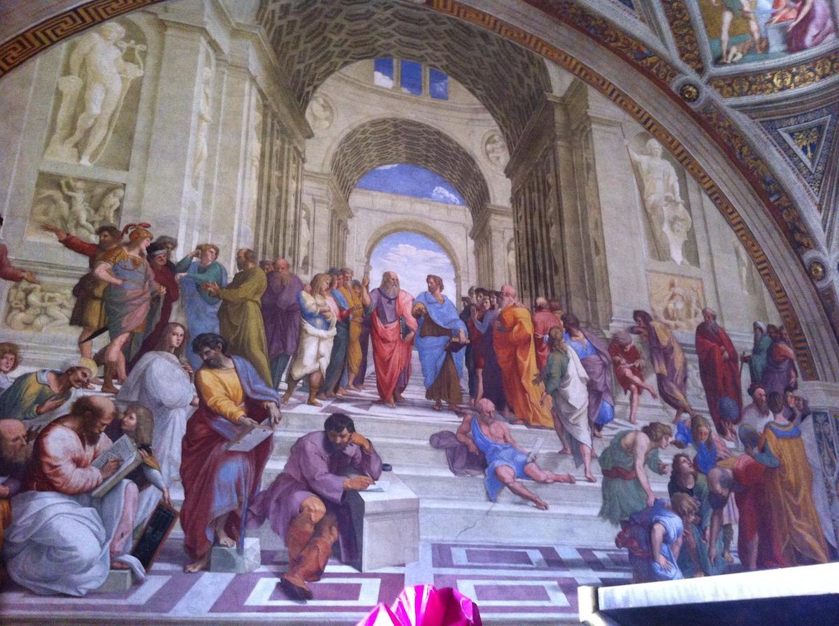 Rafael Sanzio. Escola de Atenas, Vaticano.