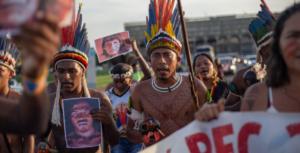 Manifestação de indígenas. Foto_ Tiago Miotto_Cimi