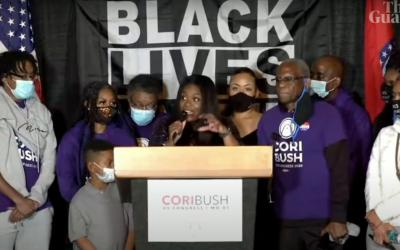 Cori Bush, primeira negra eleita no Missouri: Este é o nosso momento, até cada um de nós ser livre