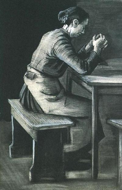 Mulher em oração | Vincent Van Gogh | 1883