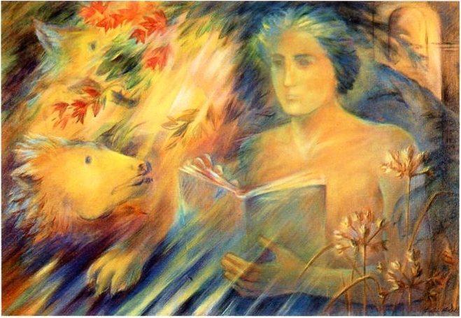 Apocalipse - O livro. Pintura de Emília Nadal.