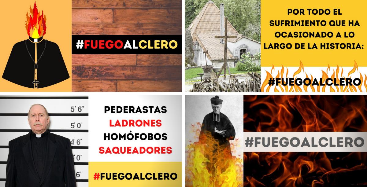 fuegoalclero twitter espanha