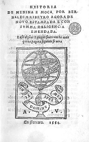 Bernardim Ribeiro_Hystoria_de_menina_e_moca - Ferrara 1554