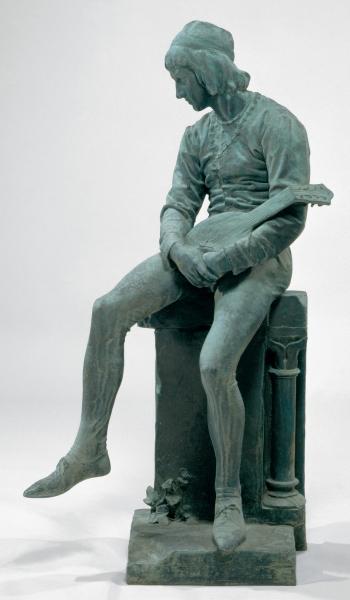 Bernardim Ribeiro, escultura de Costa Mota