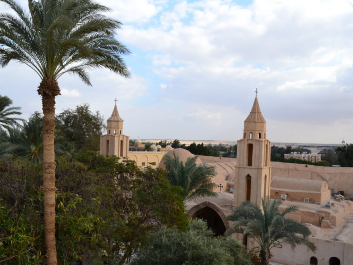 mosteiro wadi el natrun, egito, Foto Weiss Kirchner/Wikimedia Commons