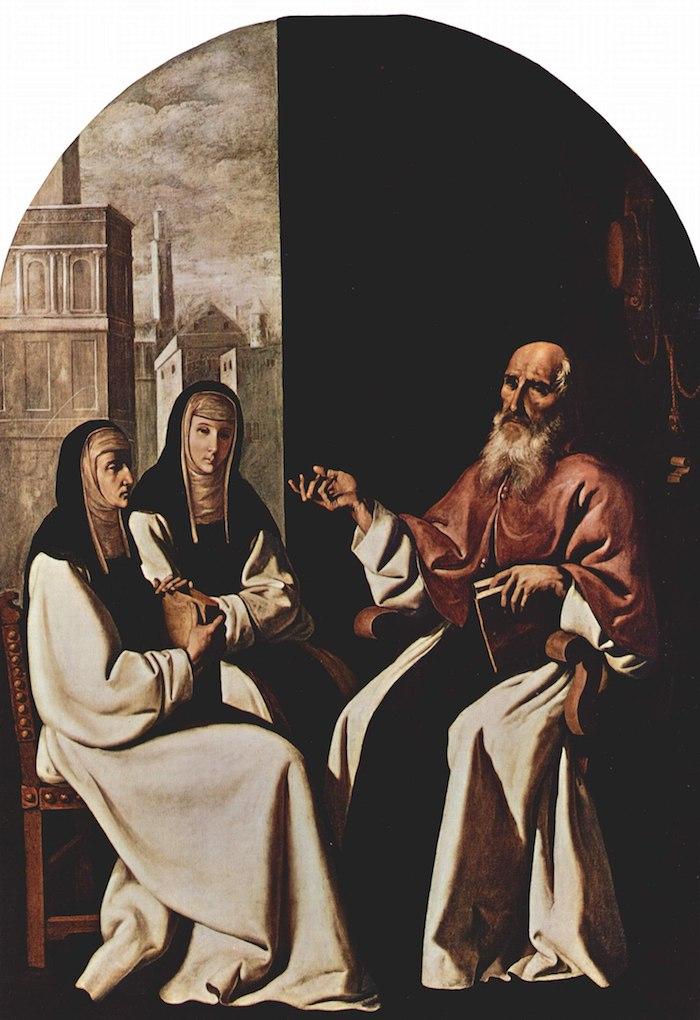 Francisco de Zurbarán, Santa Paula e Eustóquia com São Jerónimo