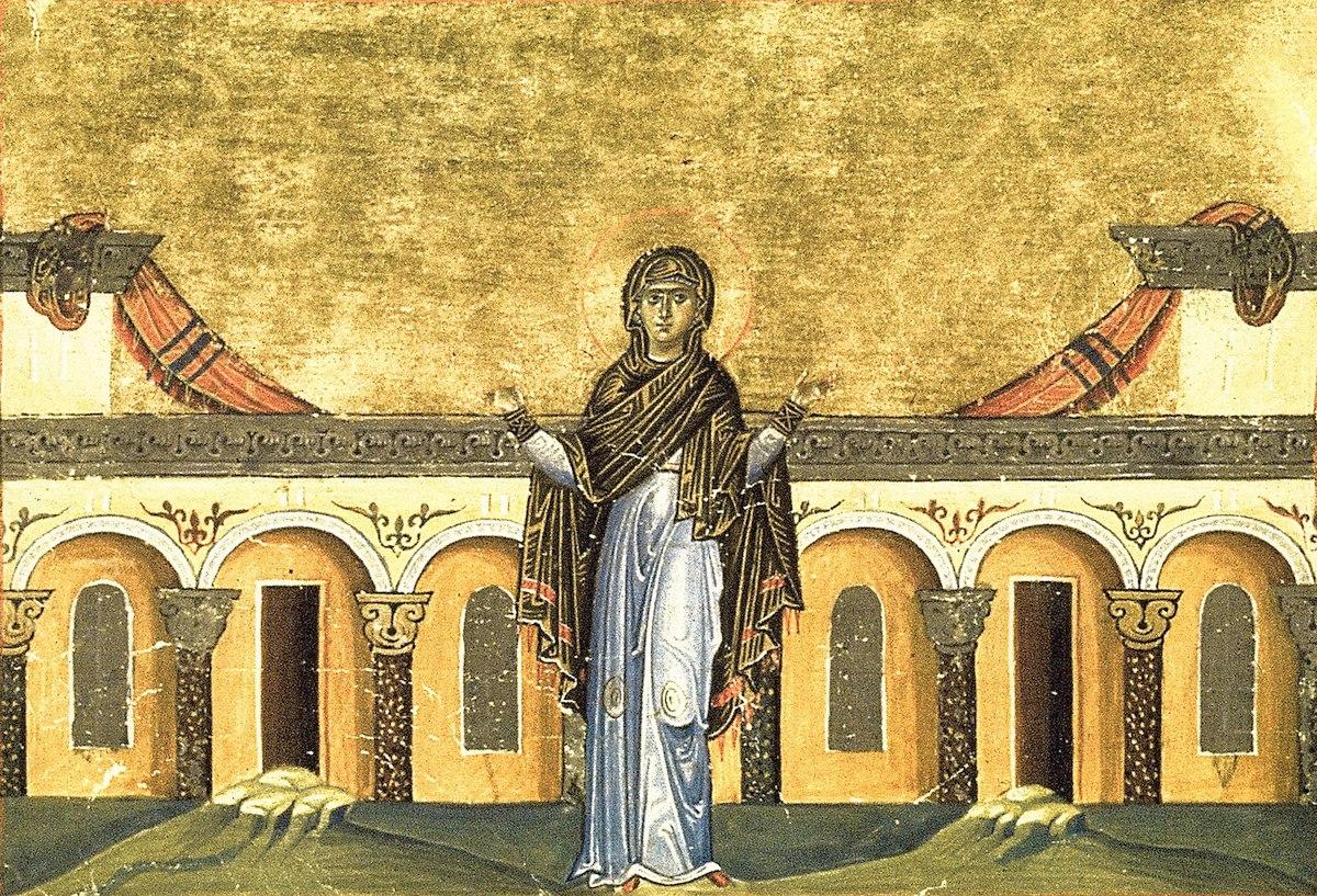 Syncletica (Sinclética) de Alexandria, manuscrito Menológio de Basílio II)