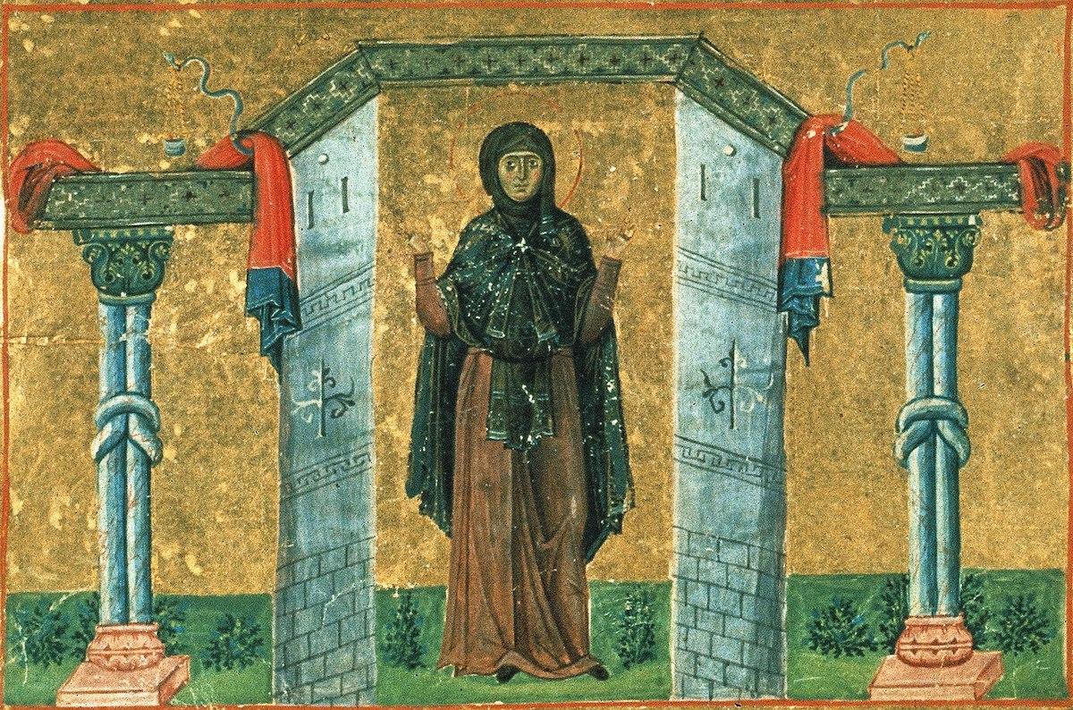 Melânia, a Jovem. Manuscrito Menológio de Basílio II