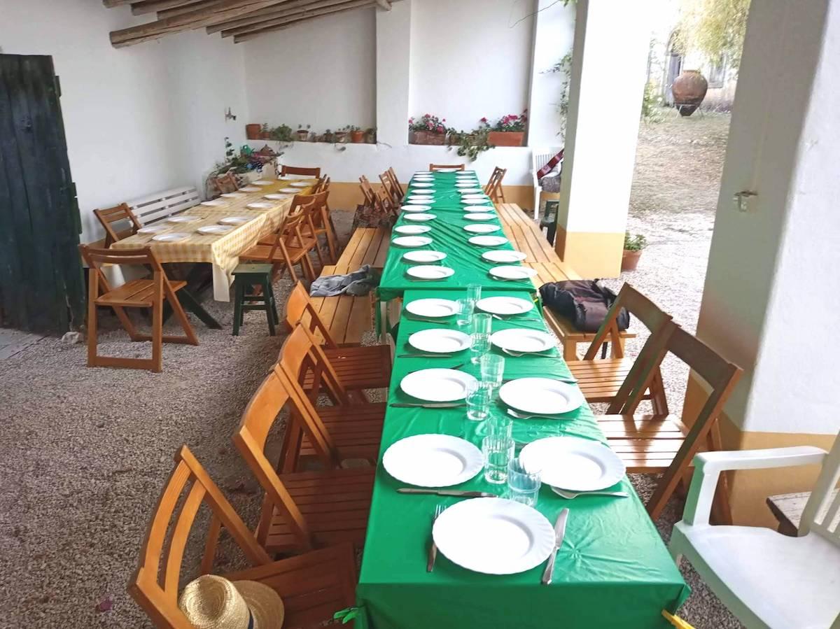 Mesa, família, alimentação, comida, partilha