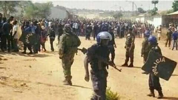 Cafunfo, Lunda Norte, Angola, manifestação