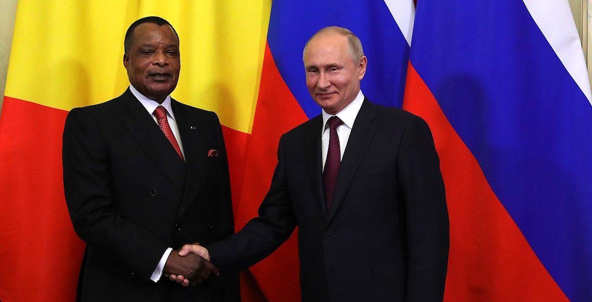 Denis Sassou Nguesso + Vladimir Putin